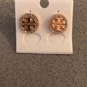 Tory Burch Gold Colored Earrings Missing 2 stones